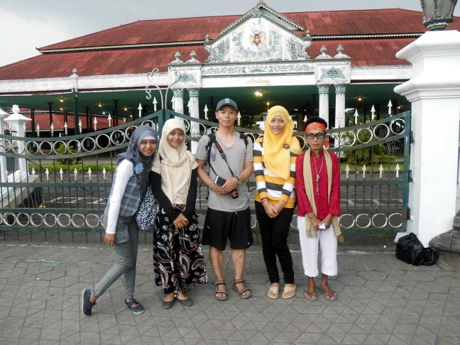 Ajeng, me, Hans, Emyl, and old lady