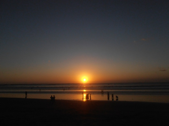 Sunset at Kuta Beach - It was almost a year ago