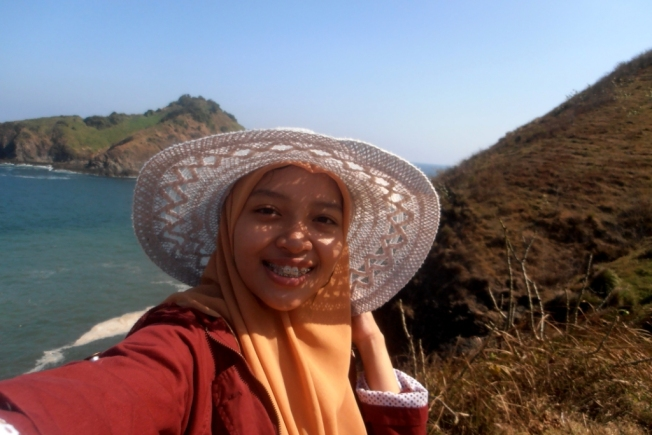 selfie at Payangan beach
